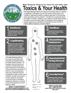 Toxics and your health sheet